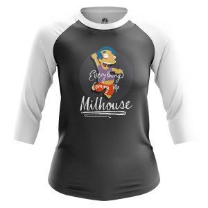 Merchandise Women'S Raglan Milhouse Simpsons Milhouse