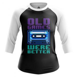 Merchandise Women'S Raglan Old Games Were Better Sign
