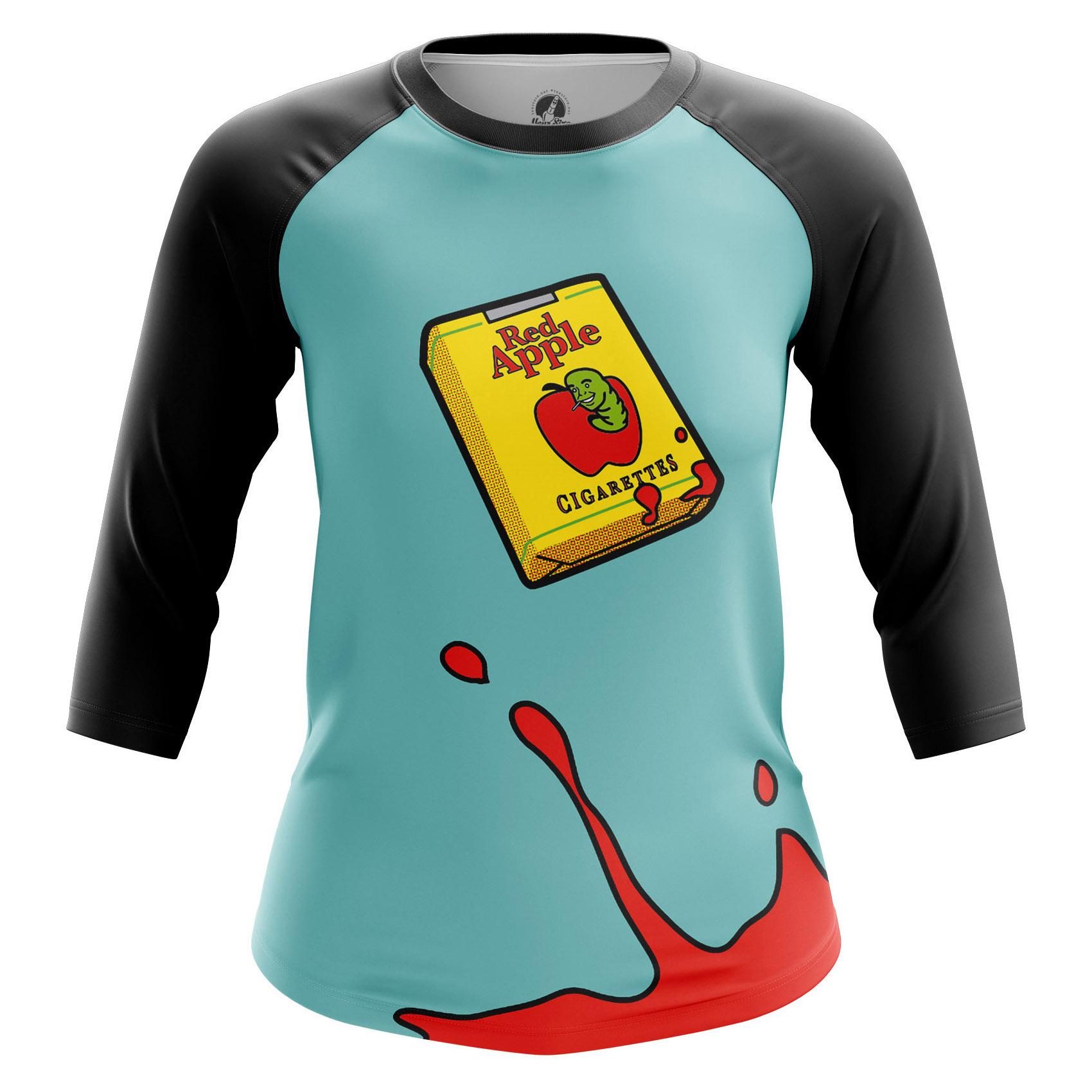 Merchandise Women'S Raglan Red Apple Cigarettes Tarantino Movie