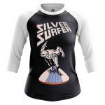 Merch Women'S Raglan Silver Surfer Fantastic 4