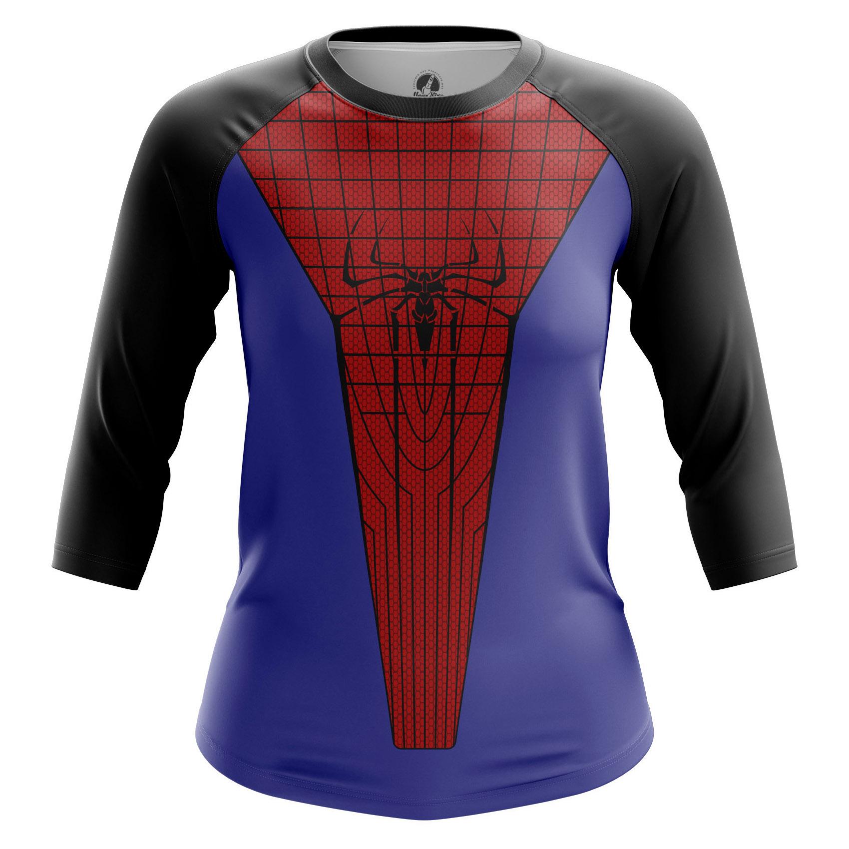 Collectibles Women'S Raglan Spiderman Suit Spider-Man Costume