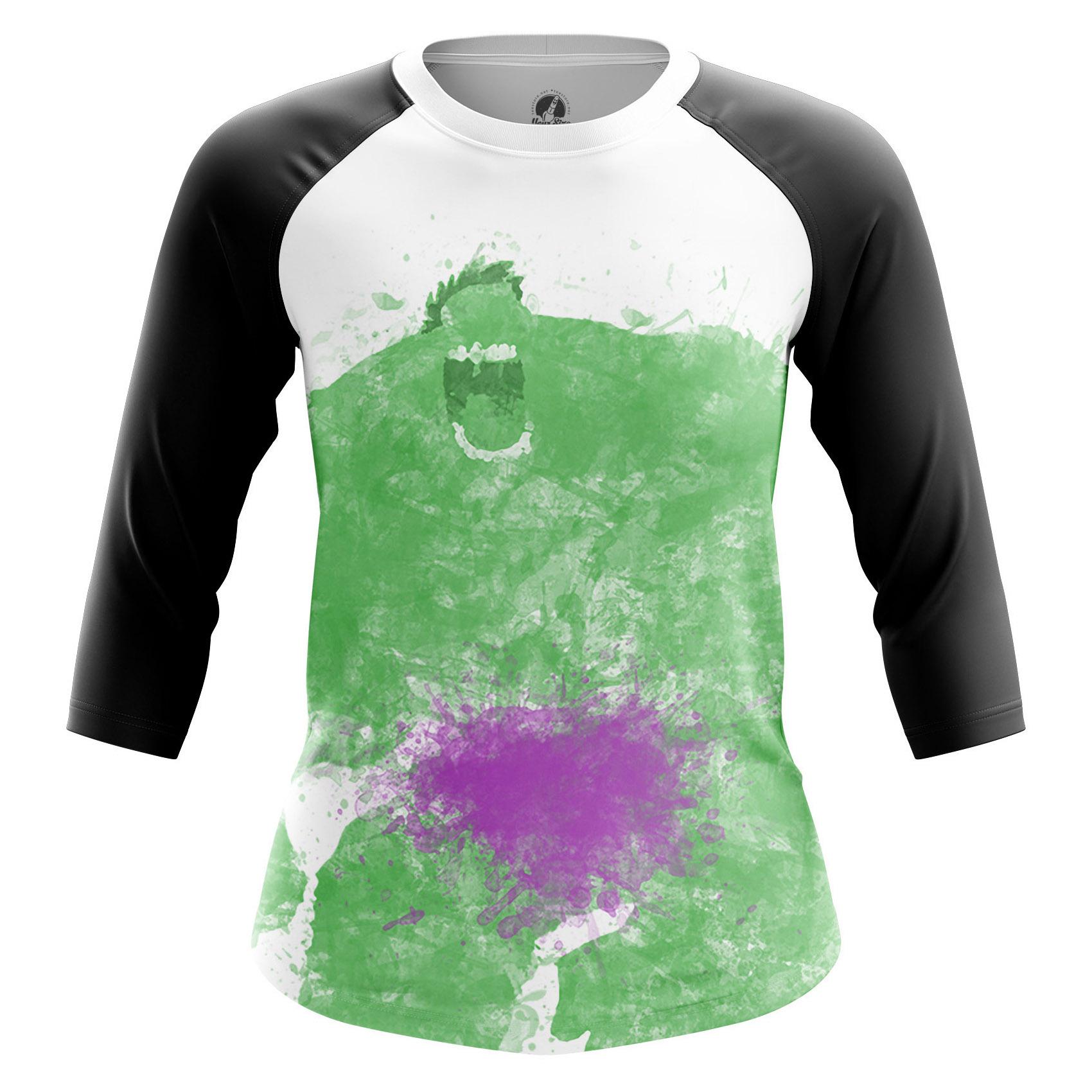 Merchandise Women'S Raglan Splash Hulk Rage Green