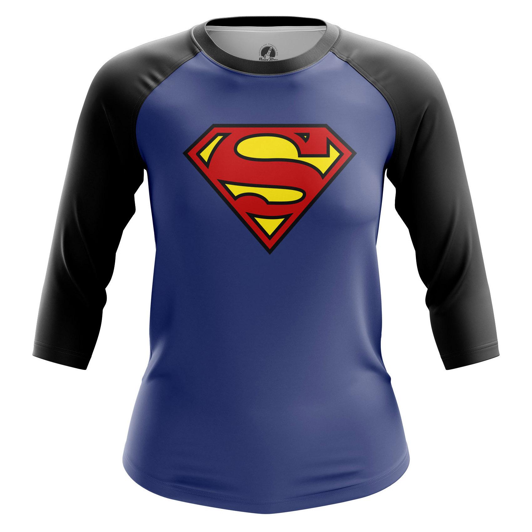 Collectibles Women'S Raglan Superman Logo Superman Classic