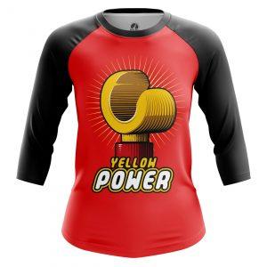 Merch Women'S Raglan Yellow Power Lego