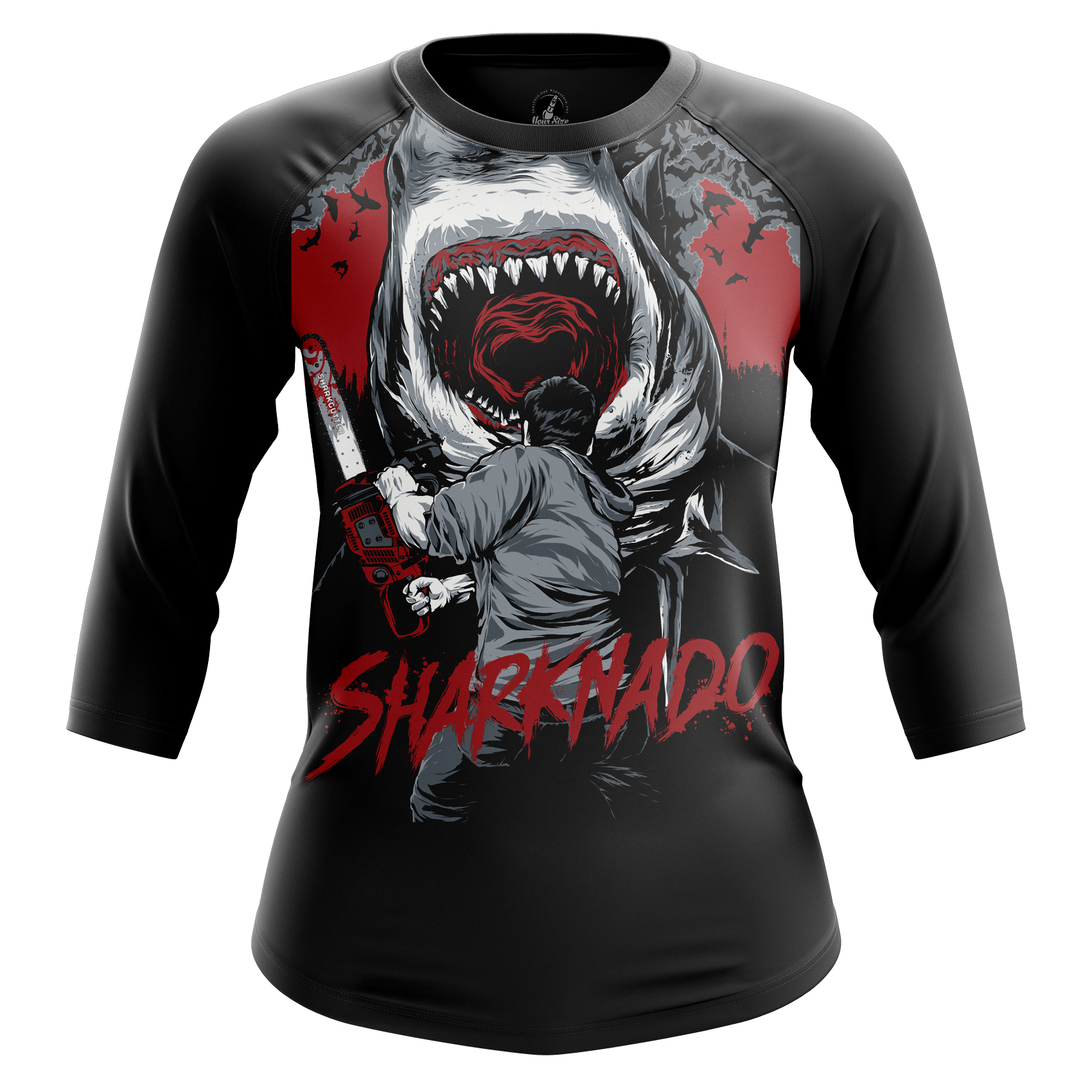 Collectibles Women'S Raglan Sharknado Jaws