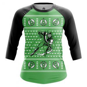 Collectibles Women'S Raglan Christmas Arrow Xmas Green