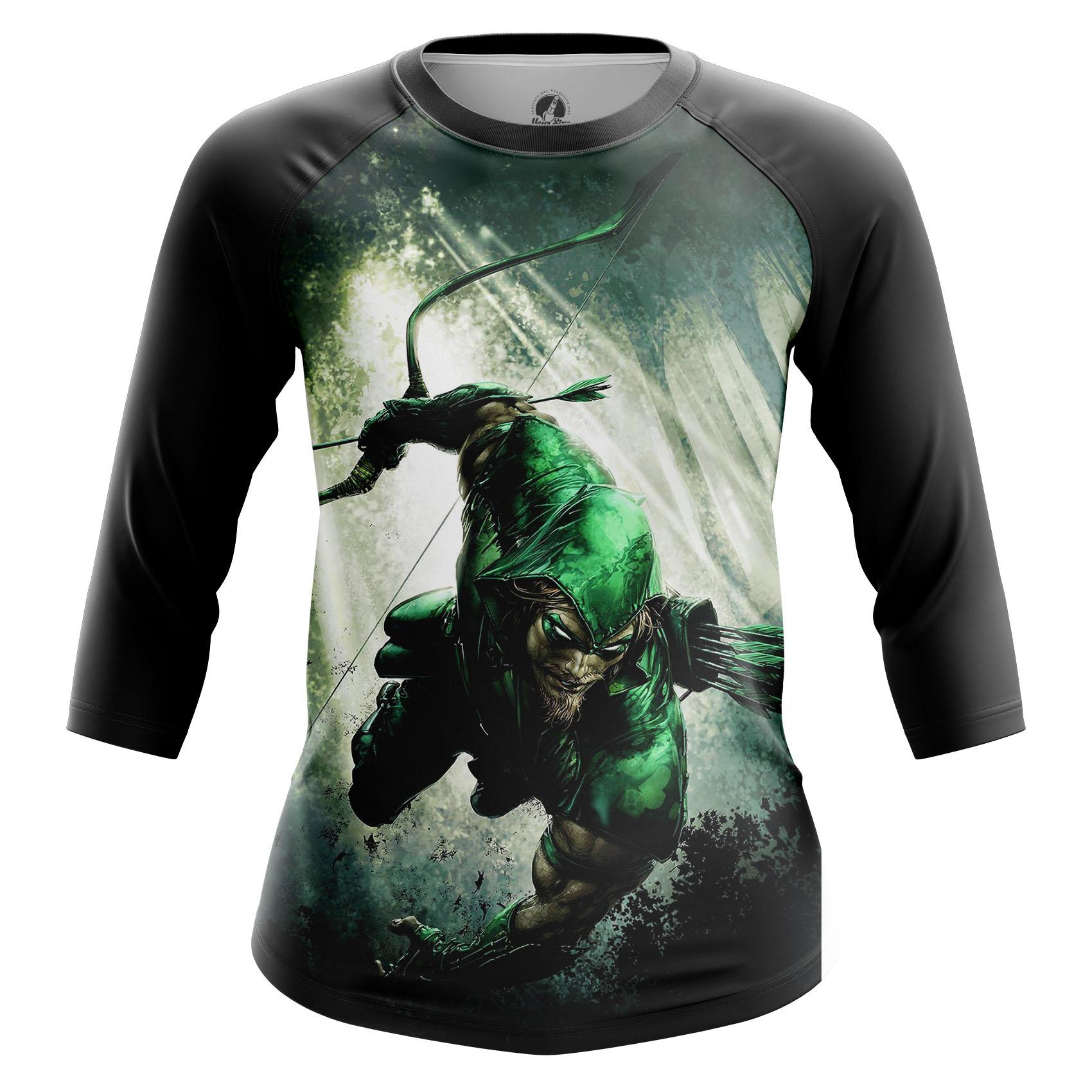 Merchandise Women'S Raglan Oliver Queen Green Arrow