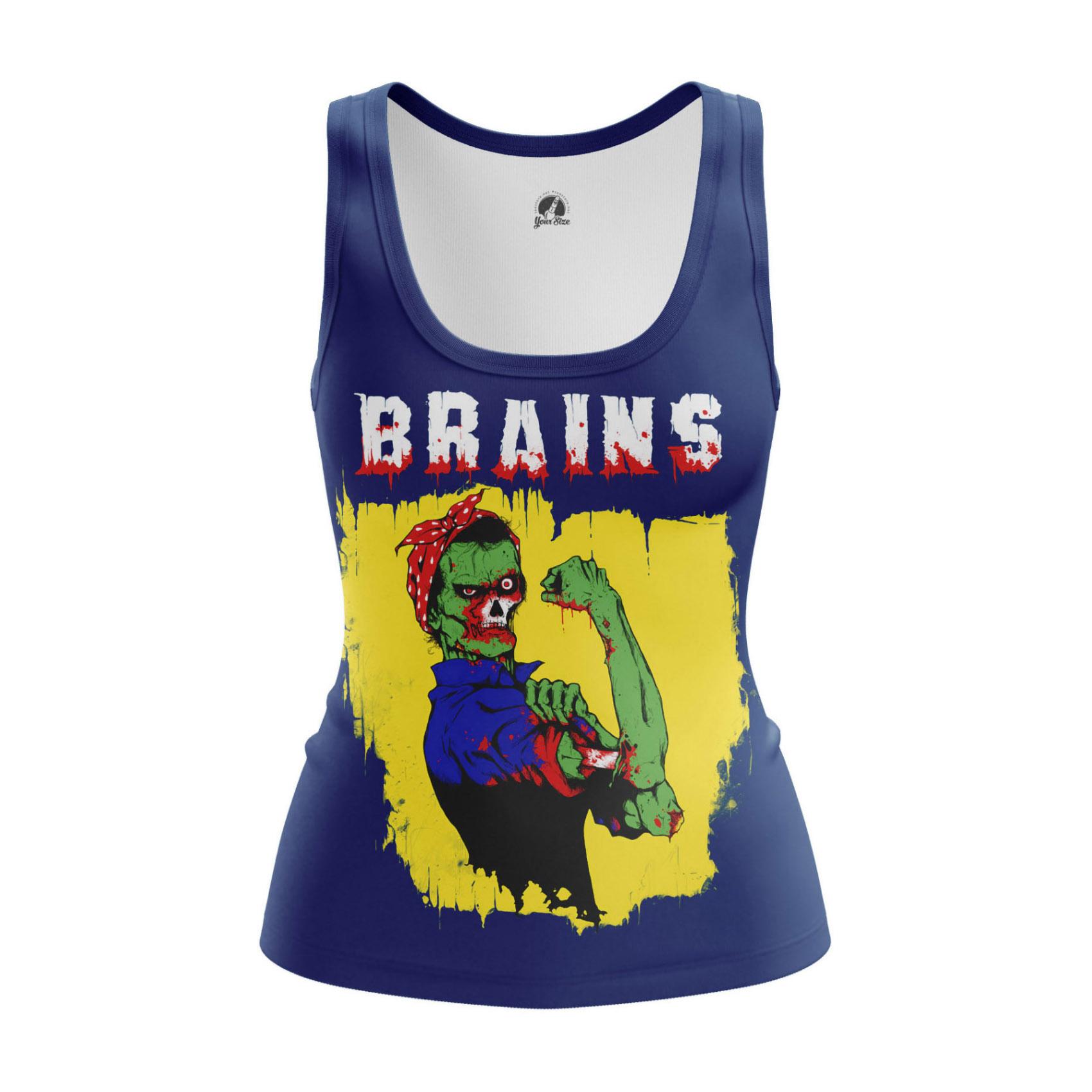 Merch Women'S Tank Brains Zombie We Can Do It Meme Vest
