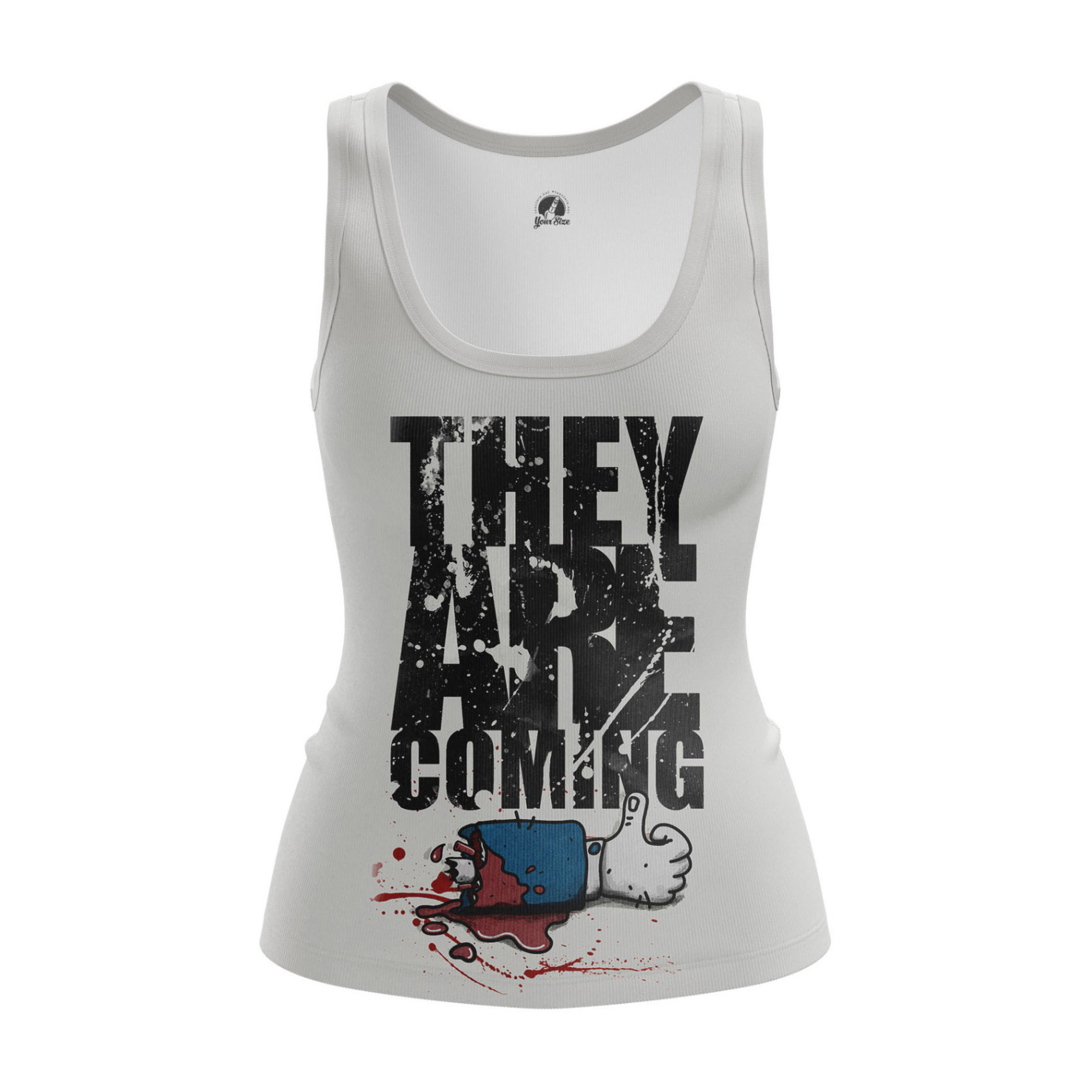 Collectibles - Women'S Tank They Are Coming Zombies Walking Dead Vest