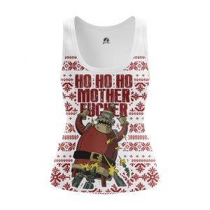 Collectibles Women'S Tank Ho Ho Ho Christmas Pattern Futurama Santa Vest