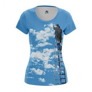 Merch Women'S T-Shirt Clouds Art Artist