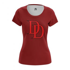 Collectibles Women'S T-Shirt Daredevil Logo Red