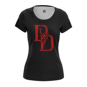 Collectibles Women'S T-Shirt Daredevil Logo Black