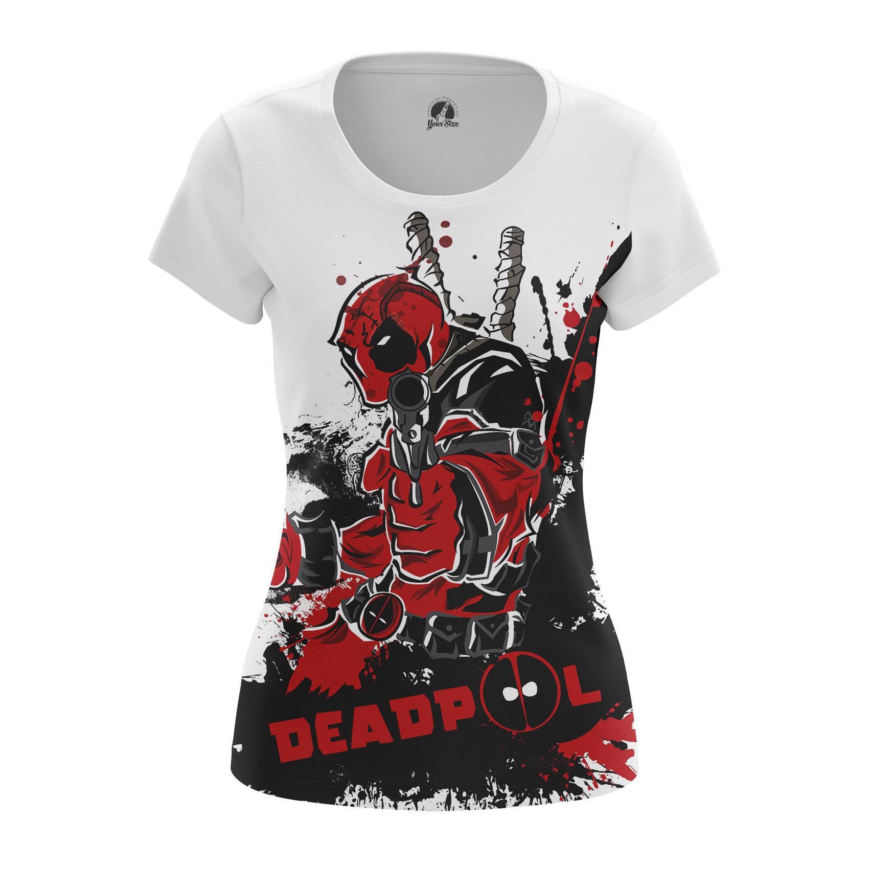 Merch Women'S Raglan Deadpool White