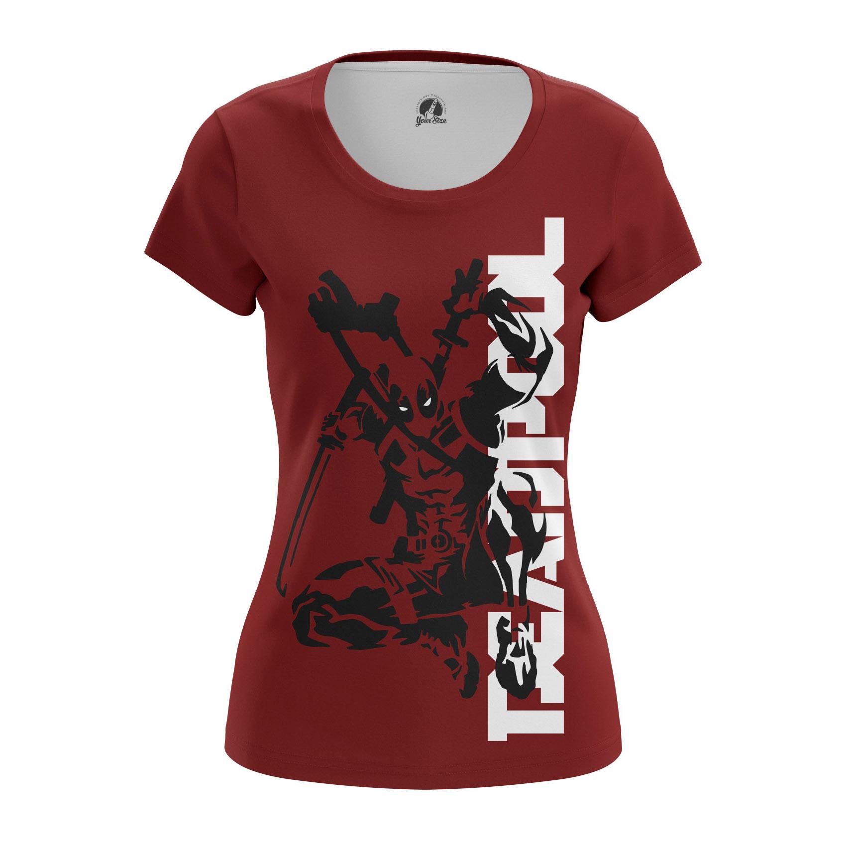 Merchandise Women'S Raglan Deadpool Red