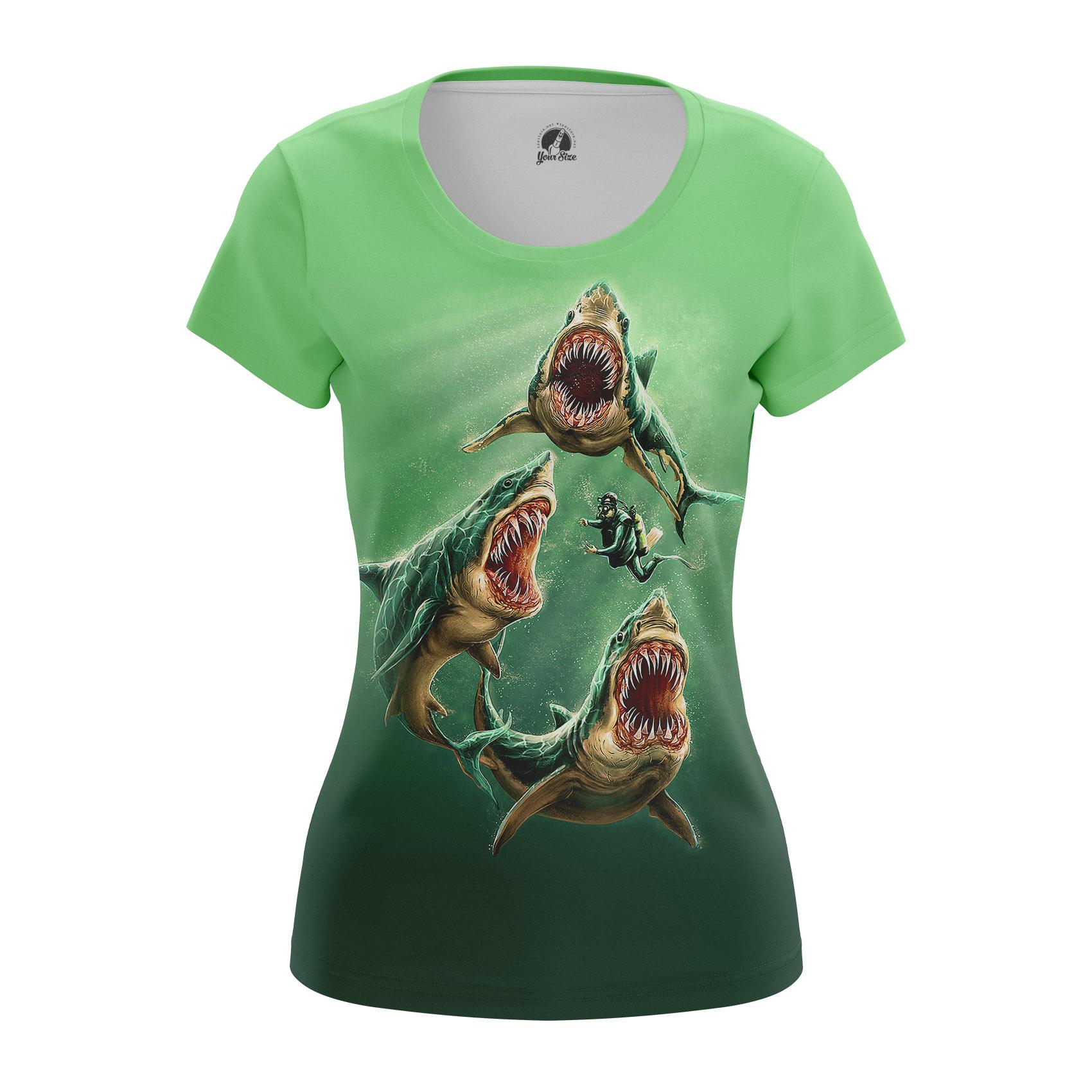 Collectibles Women'S Raglan Deep Green Animals Sharks Ocean