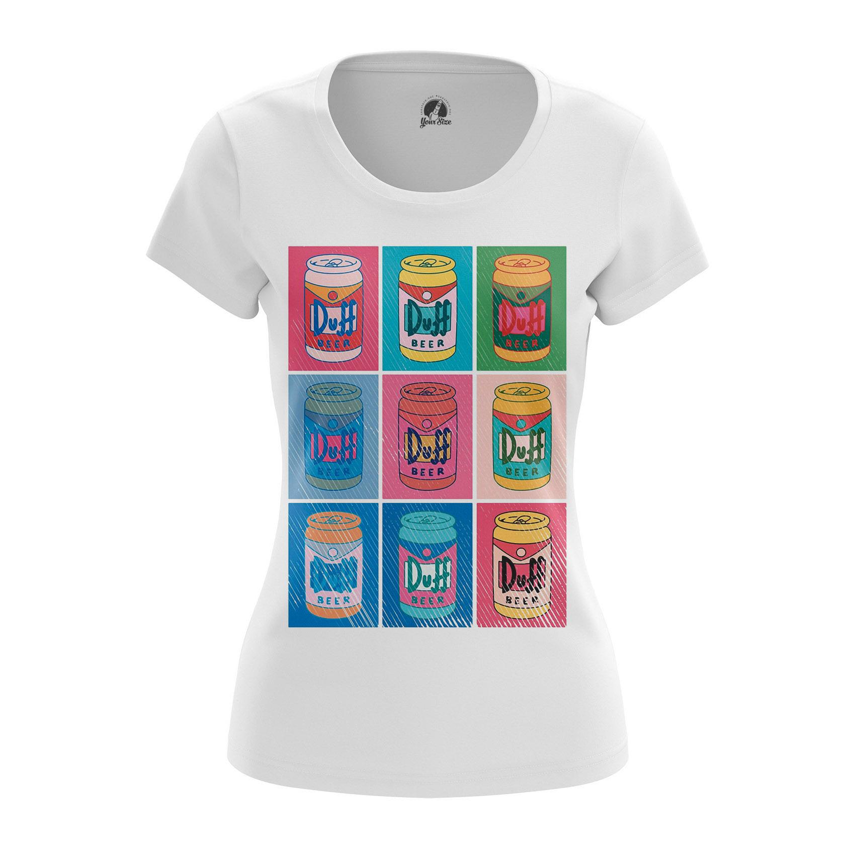 Collectibles - Women'S T-Shirt Duff Time Simpsons Art Pattern Pop Art