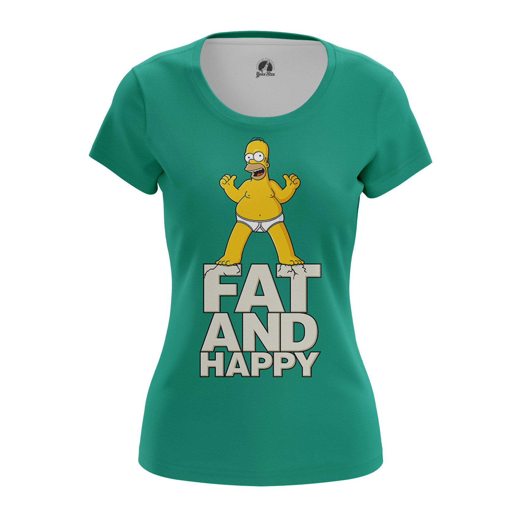 Collectibles Women'S Raglan Homer Simpson Fat And Happy