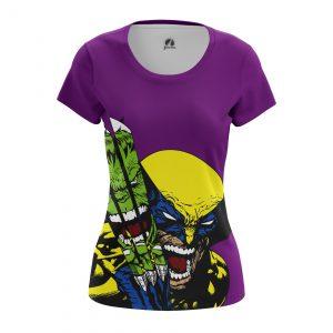Merchandise Women'S T-Shirt Hulk Vs Wolverine