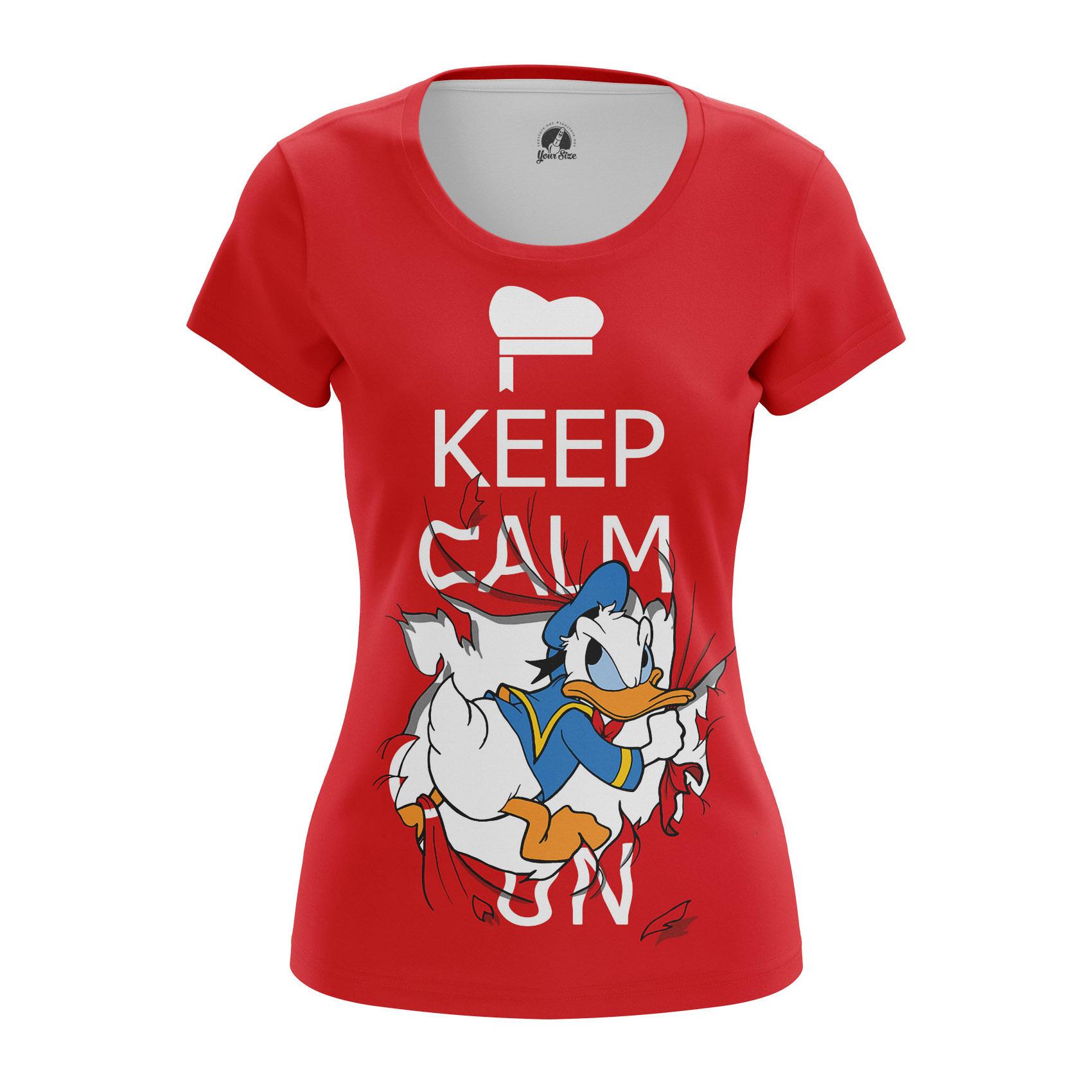 Merchandise Women'S Long Sleeve Keep Calm Donald Duck