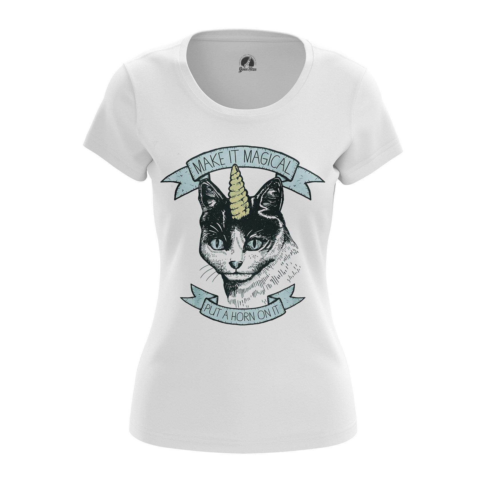 Merchandise Women'S Long Sleeve Make It Magical Cat Unicorn