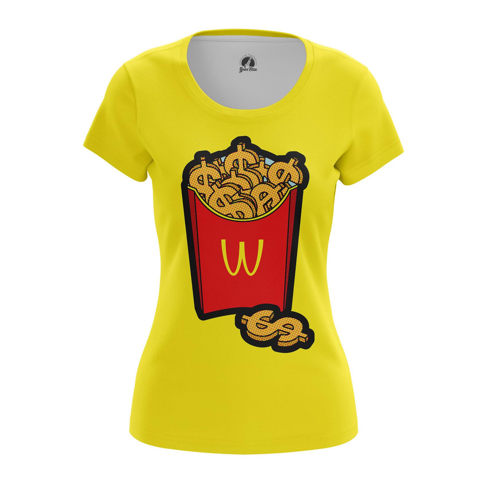 Collectibles Women'S Long Sleeve Mcmoney Mcdonald French Fries Fun Pop Art