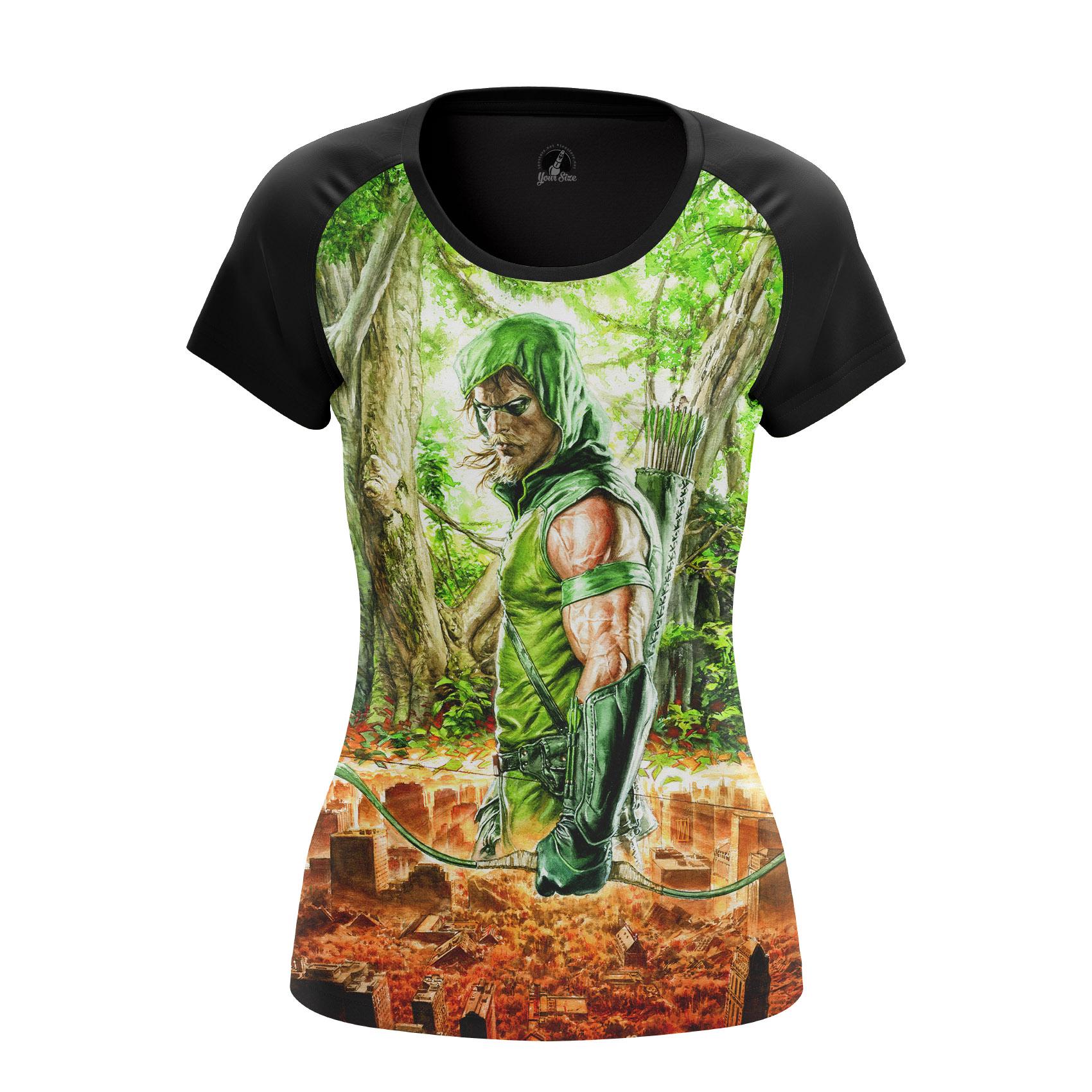 Merch Women'S Raglan Green Arrow Female