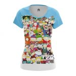 Merchandise - Women'S T-Shirt South Park All Characters Kenny Stan