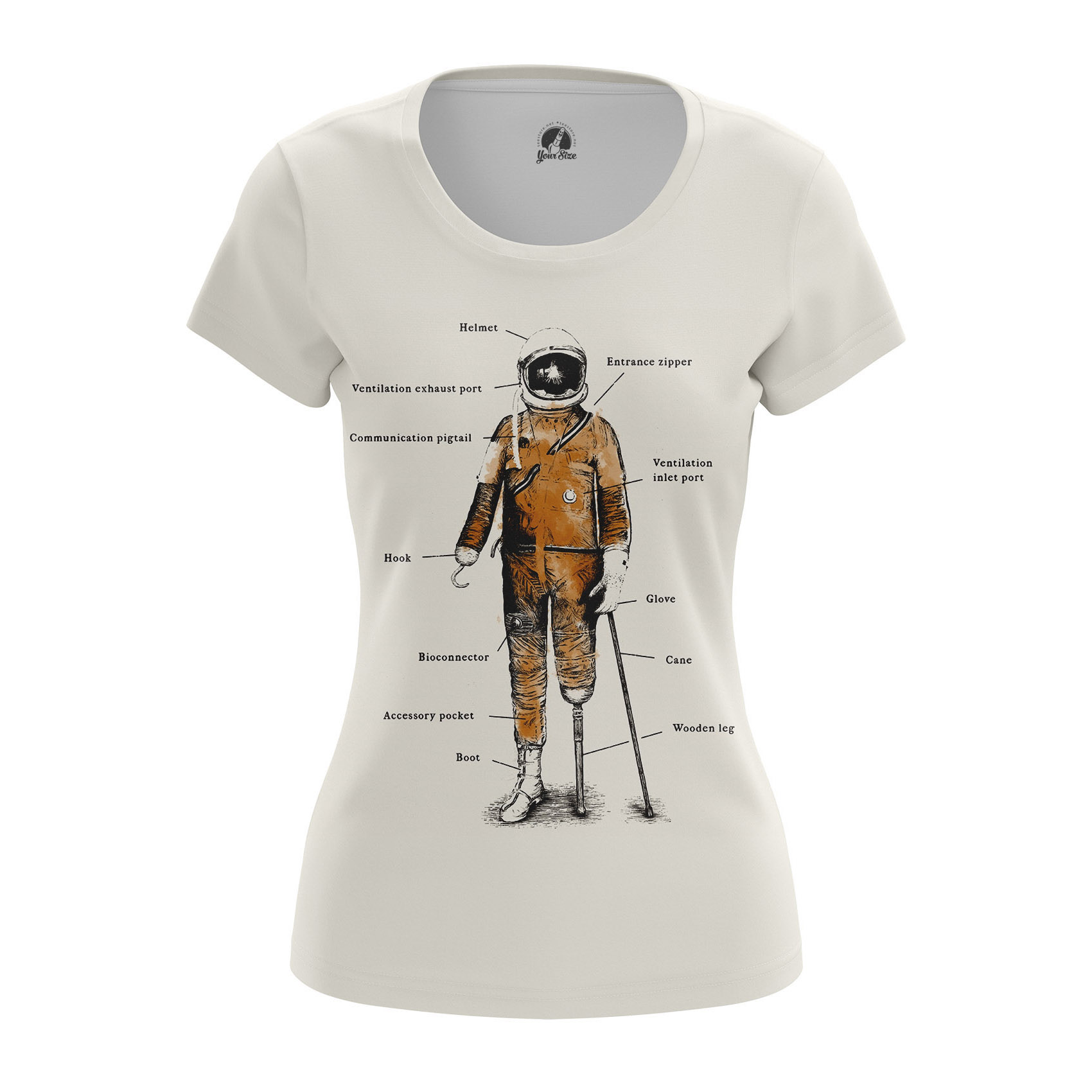 Collectibles Women'S Raglan Space Pirate Astronaut