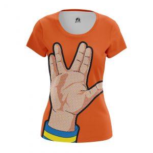 Merch Women'S T-Shirt Spok Star Trek Live Long Prosper Pop Art