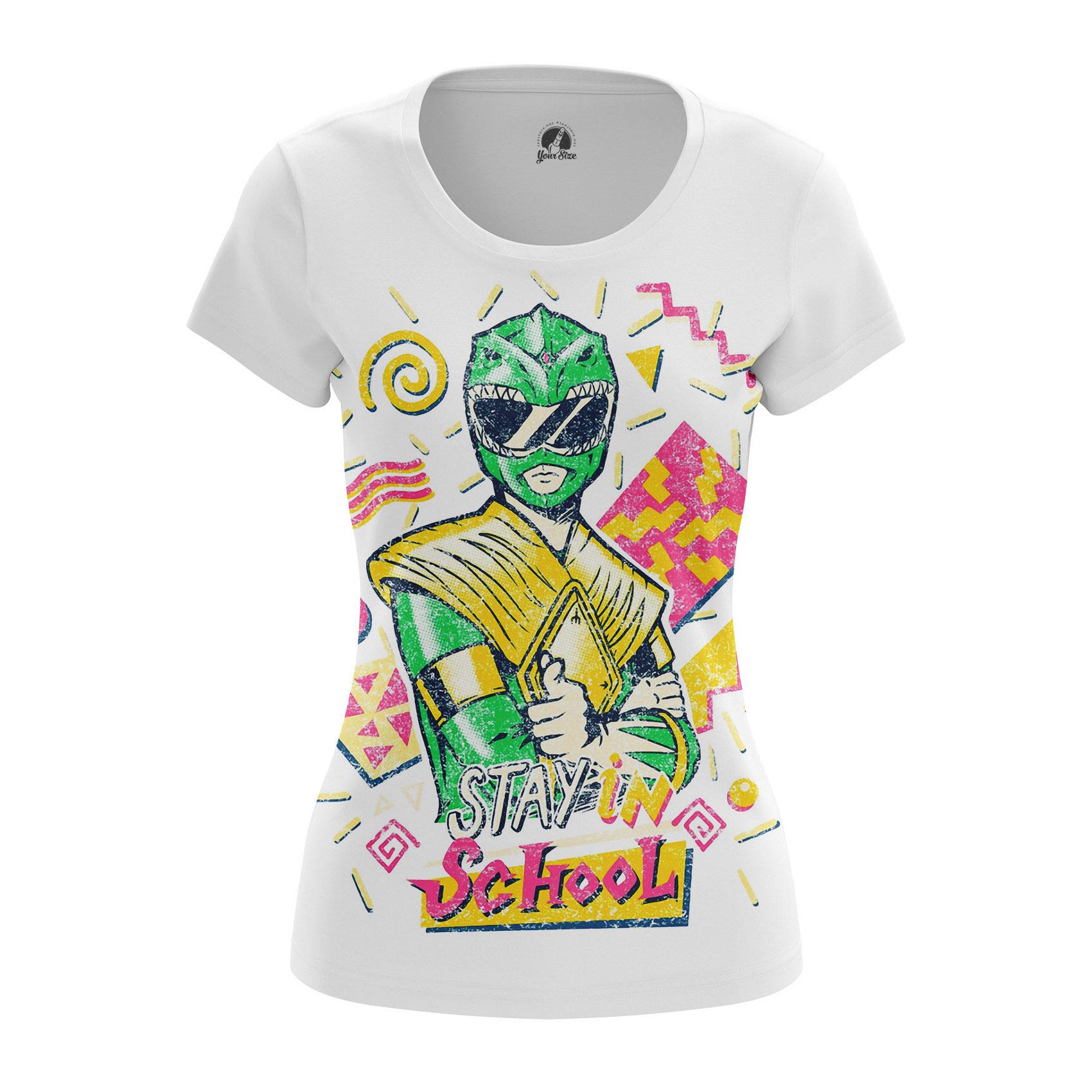 Merchandise Women'S Raglan Stay In School Power Rangers Green