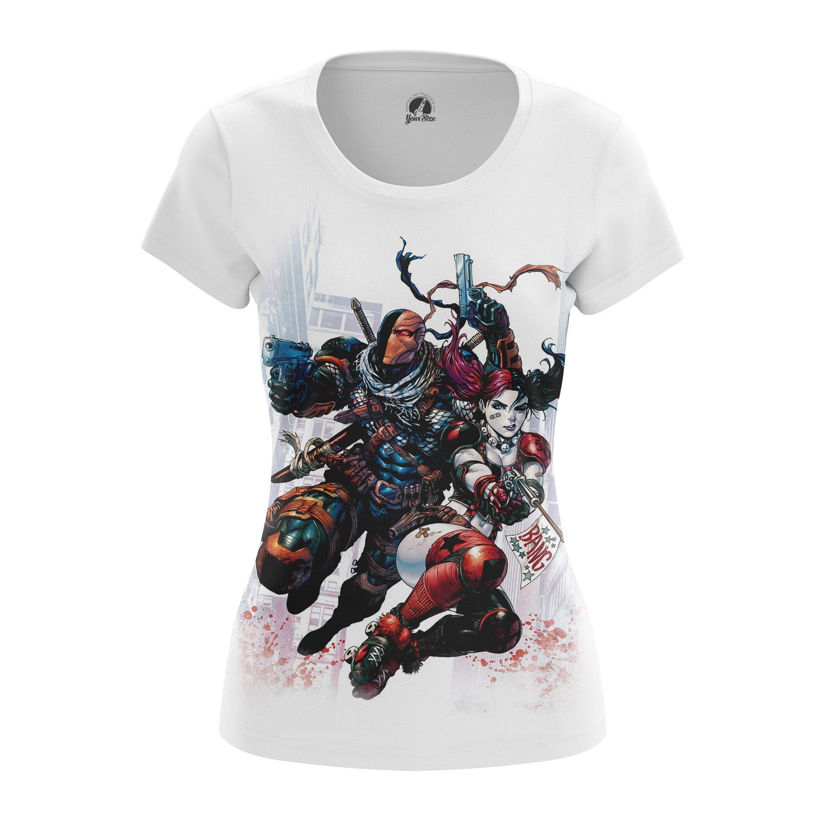Merchandise - Women'S T-Shirt Deathstroke And Harley