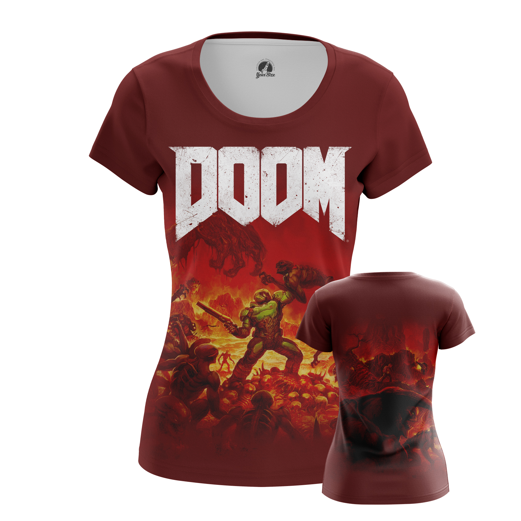 Collectibles Women'S Raglan Doom Top Shirt Game Merch