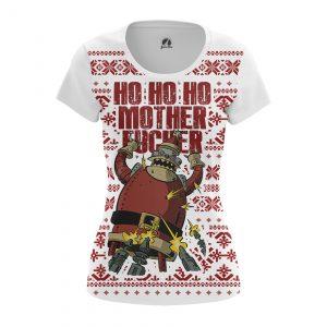 Collectibles Women'S T-Shirt Ho Ho Ho Christmas Pattern Futurama Santa