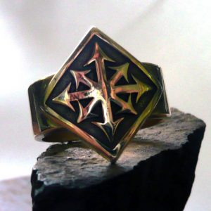 Collectibles Ring Warhammer Universe Chaos Symbol Star