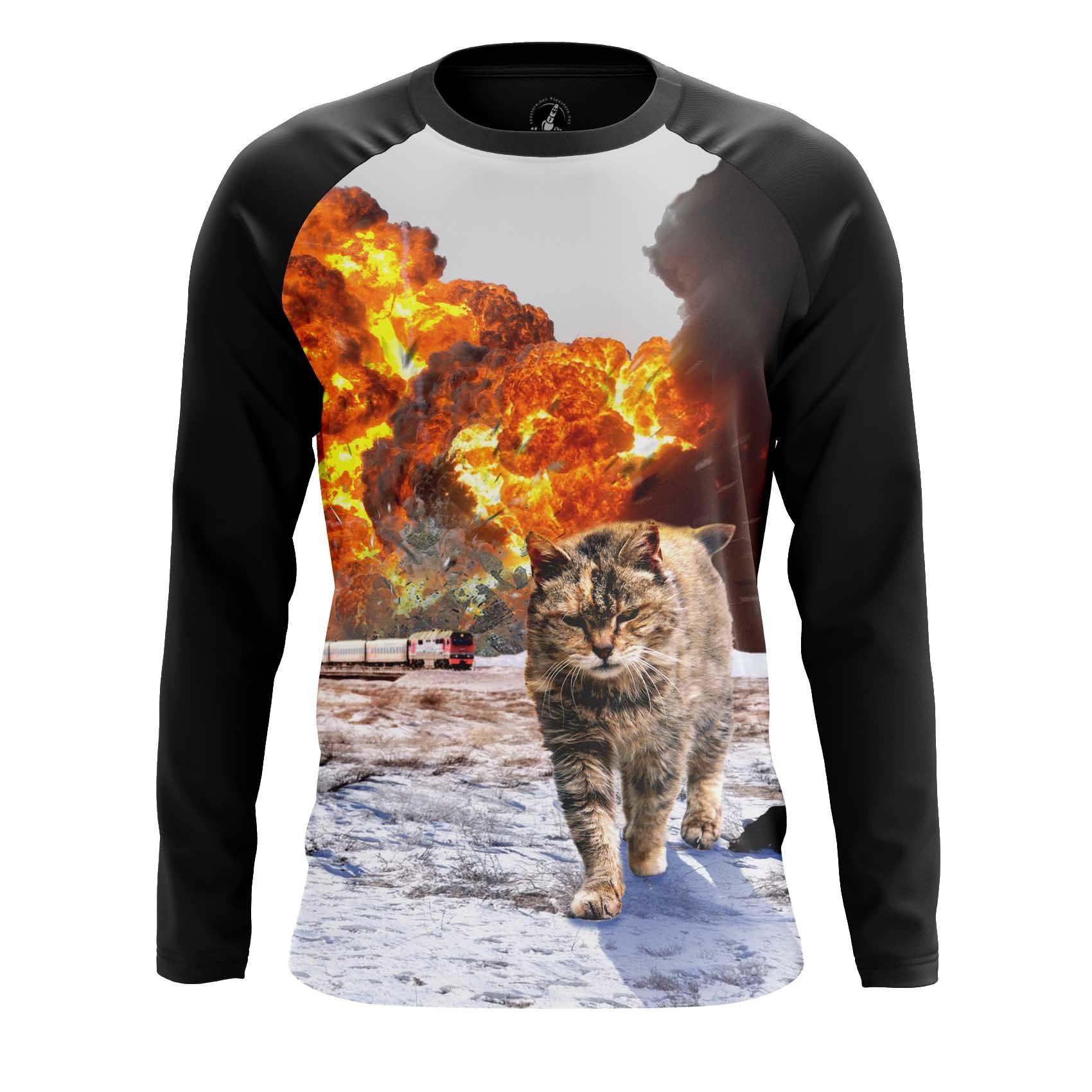 Merch Men'S T-Shirt Badass Internet Funny Cat