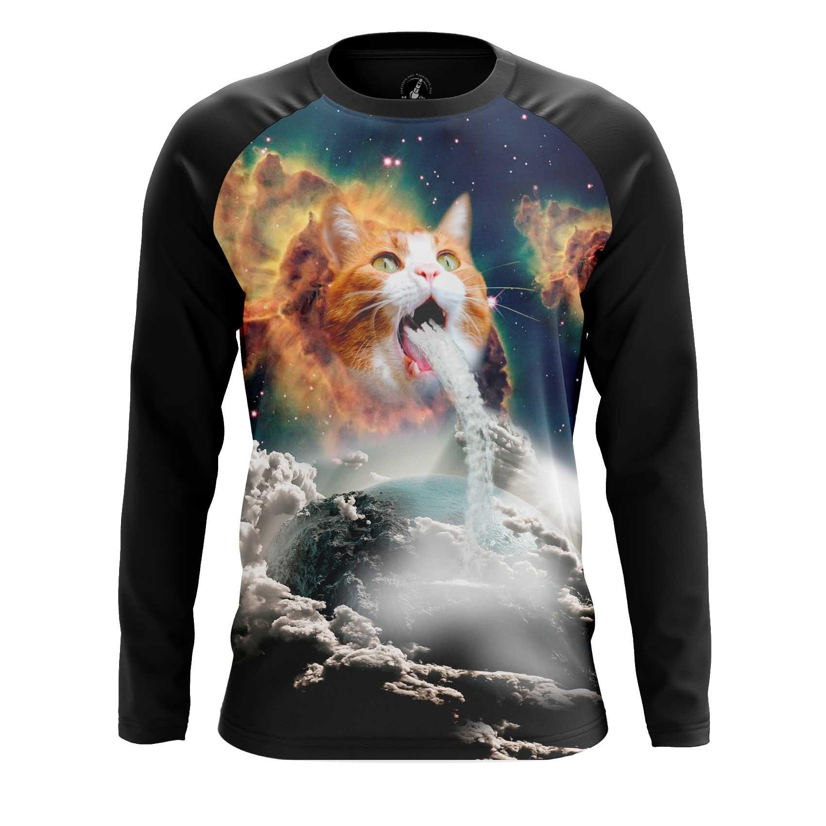 Merchandise Men'S Raglan Milky Cat Space Cats