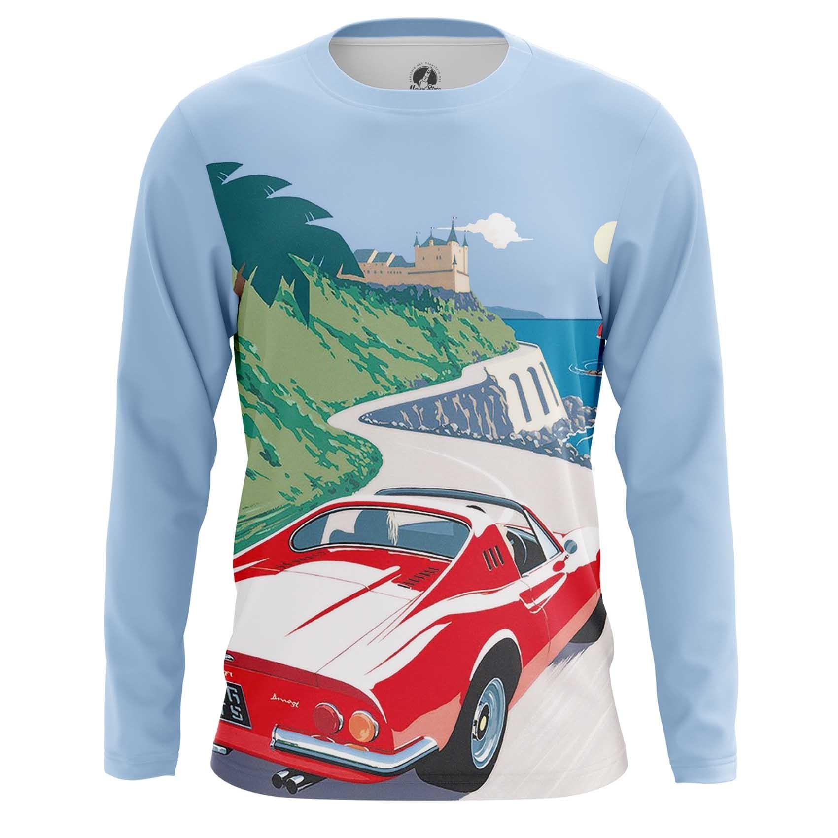 Collectibles Men'S T-Shirt Ferrari Car Logo Emblem Cote D'Azur