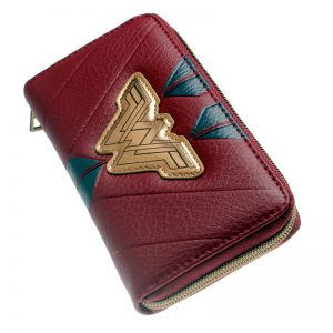- Wonder Woman Zip Around Wallet Pu Long Fashion Women Wallets Designer Brand Purse Lady Party