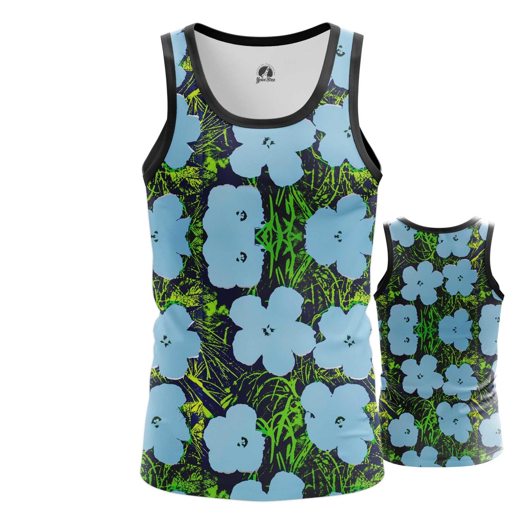 Merch T-Shirt Andy Warhol Flowers Artwork Art