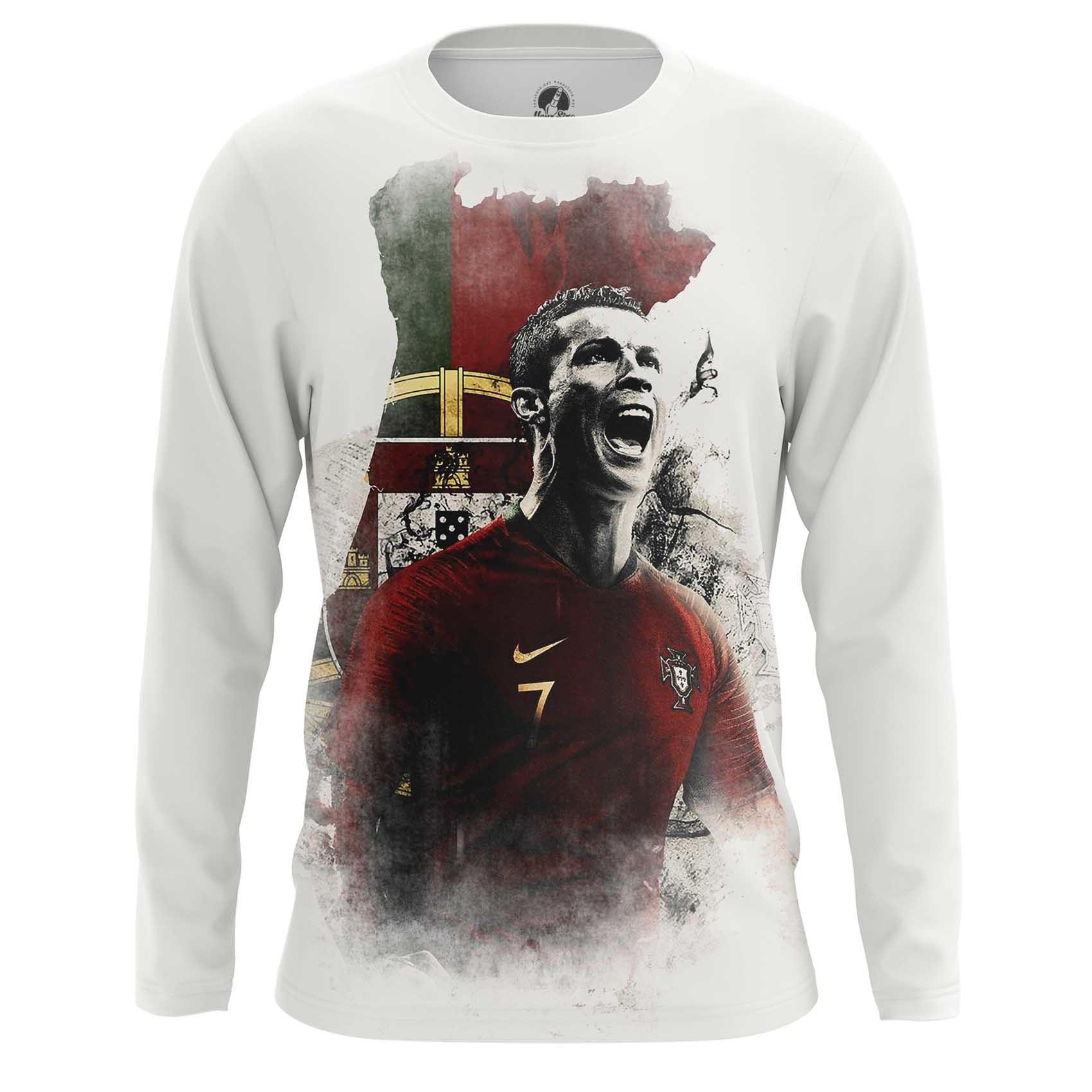 Collectibles Men'S Long Sleeve Cristiano Ronaldo Illustration Fan Art