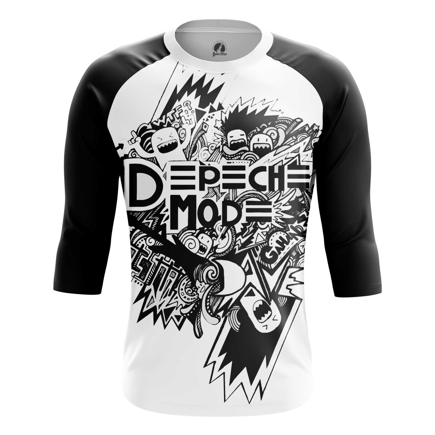 Merchandise Men'S T-Shirt Depeche Modeandise Black And White