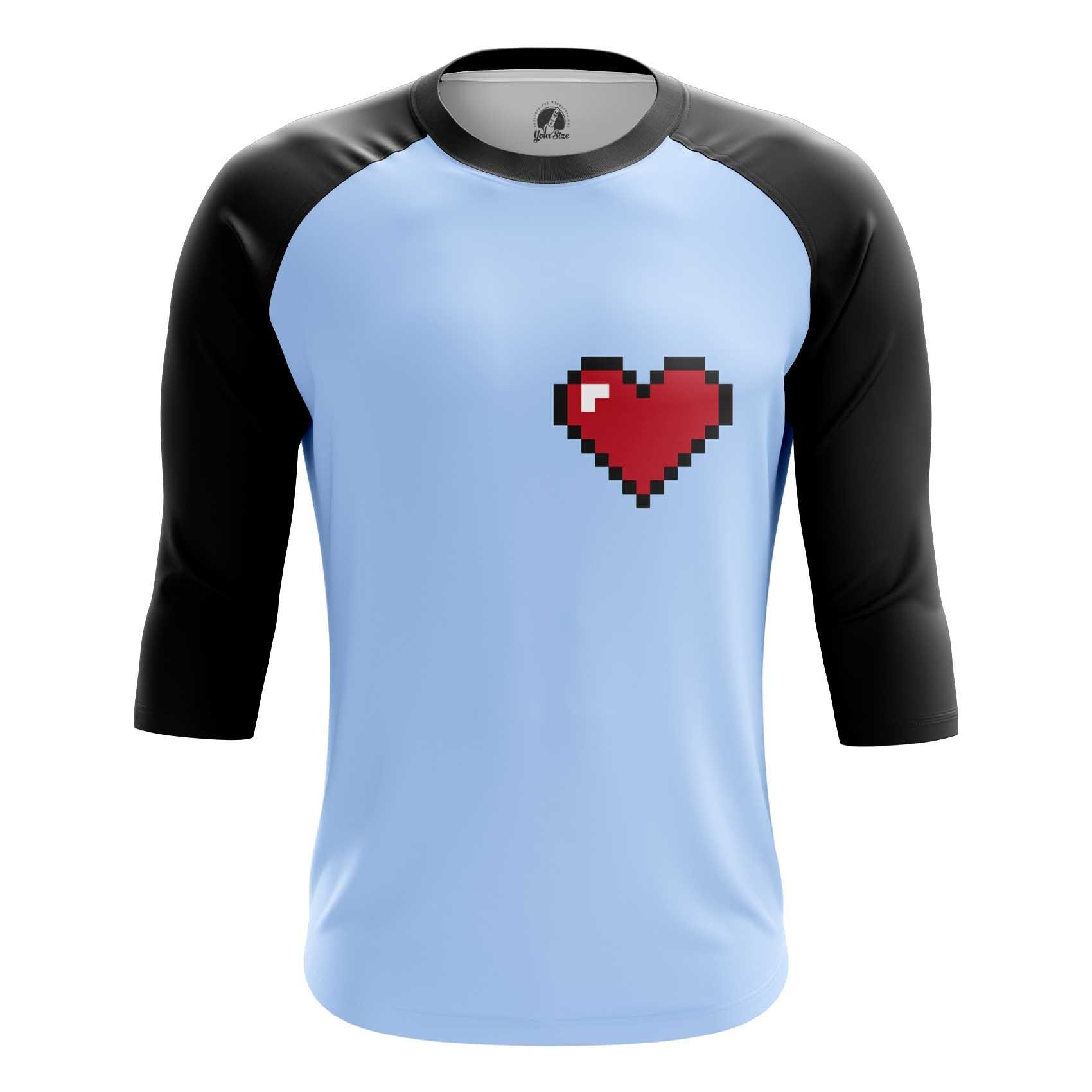 Merchandise Long Sleeve 8 Bit Heart Pixel Inspired Nintendo