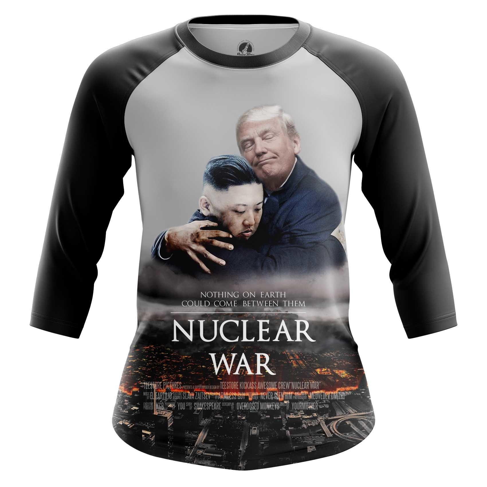 Collectibles Women'S Long Sleeve Nuclear War Trump Kim Jong Un