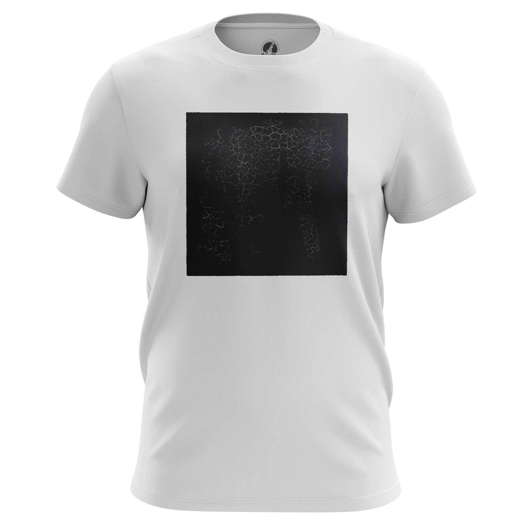 Merch T-Shirt Black Square Malevich Fine Art Artwork