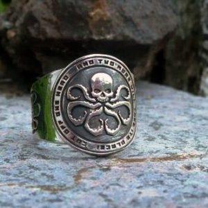 Merchandise Ring Marvel Hydra Symbol Captain America Avengers