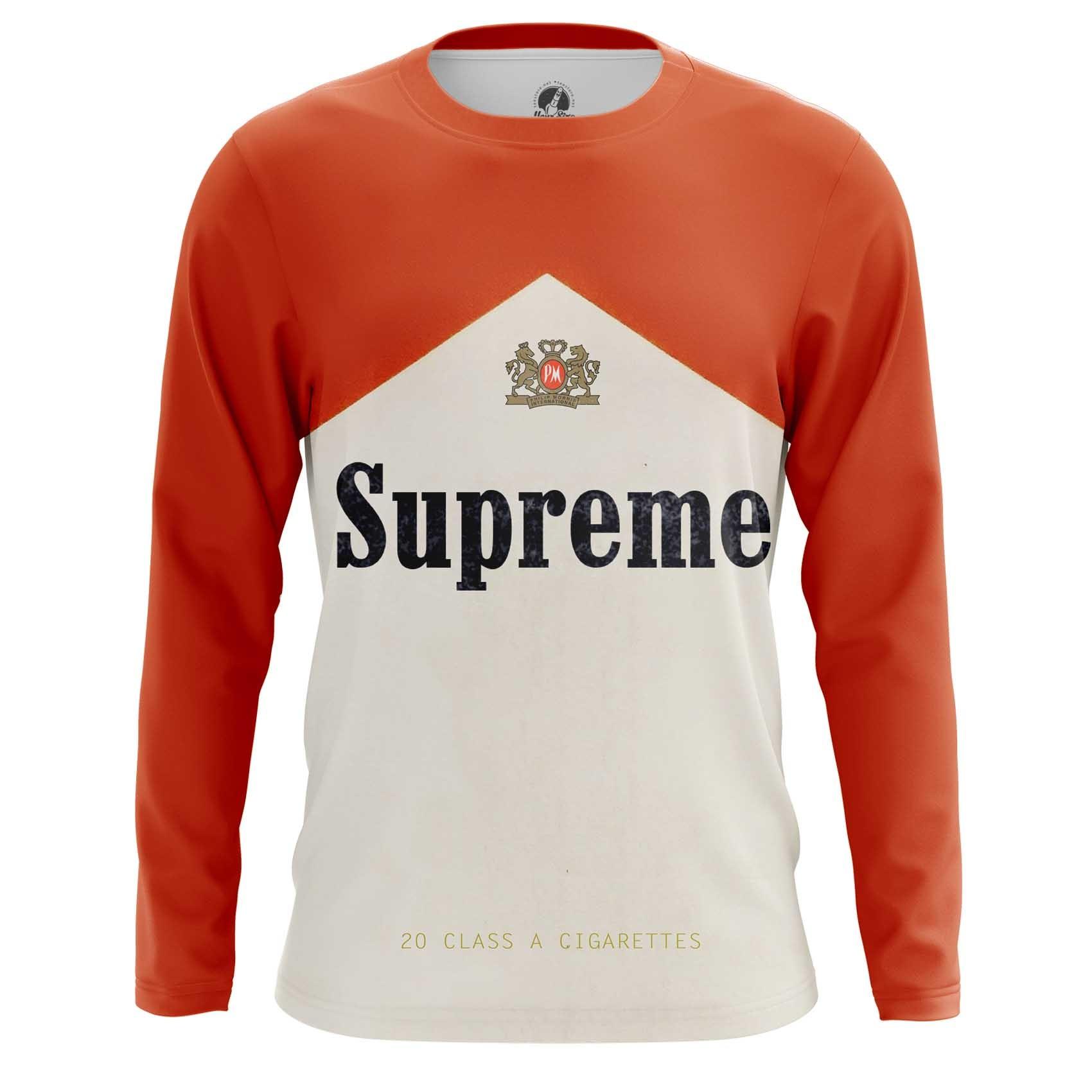 Merch T-Shirt Supreme Sign Cigarettes Marlboro