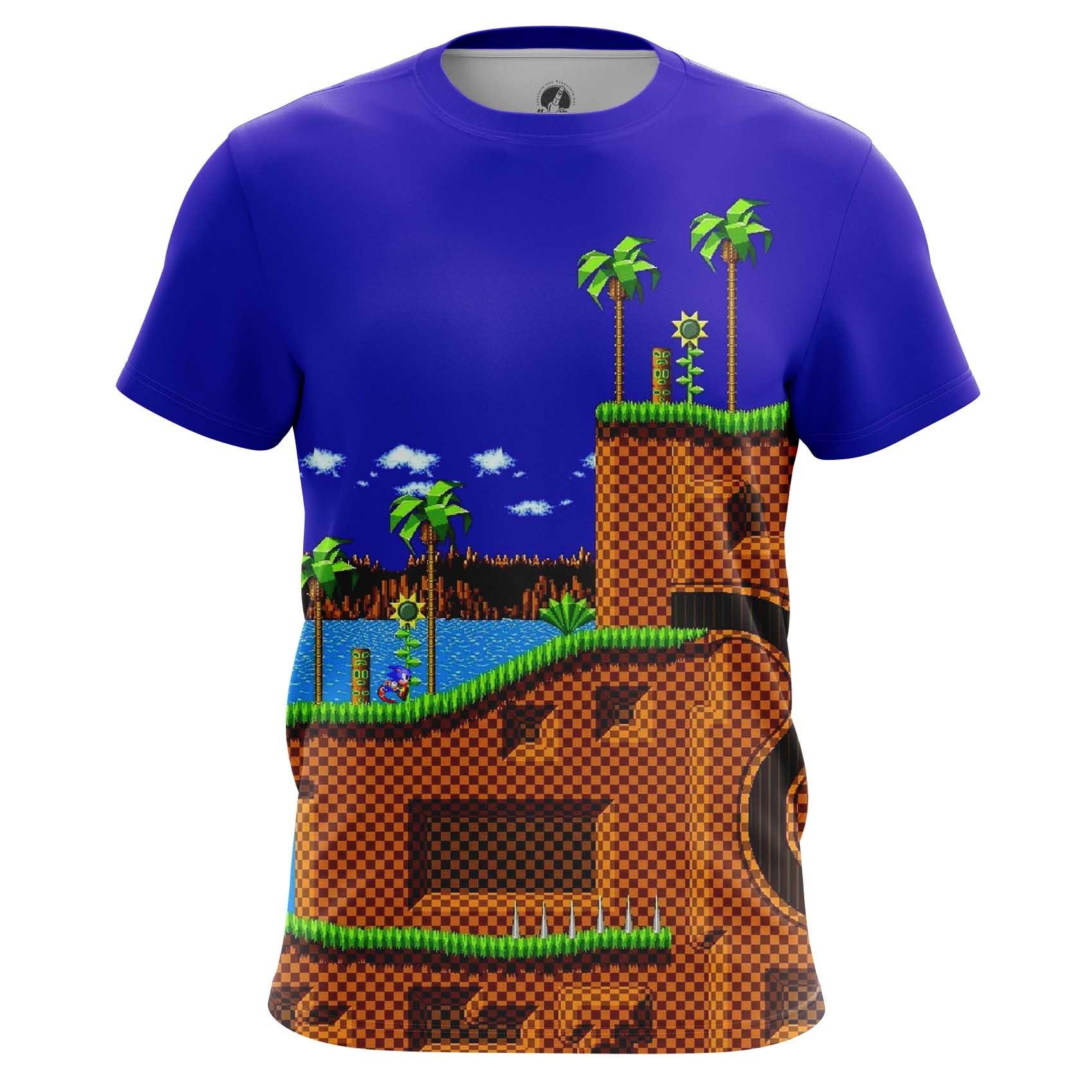 Merchandise Men'S Long Sleeve Sonic Hedgehog 16-Bit World