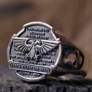 Merchandise Ring Imperium Of Man Dawn Of War