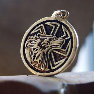 Merchandise Wolf Slavs Sun Slavic Paganism Necklace